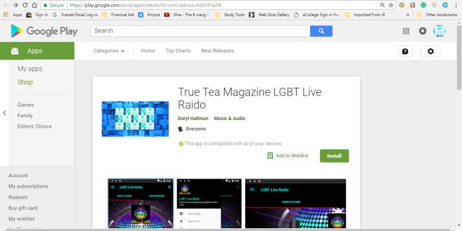 True Tea Magazine LGBT Live Radio pop